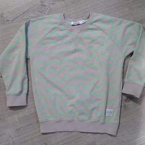 Indikidual Chevron stripe gray green sweatshirt 5-